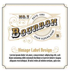 vintage frame logo design for label vector image
