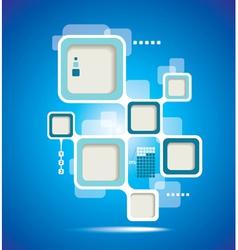 Website Template design frame vector image