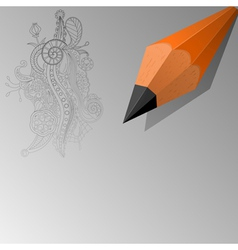 Abstract background with a pencil eps10 vector image vector image