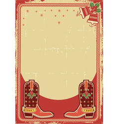 abstract christmas card background with cowboy vector image vector image