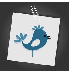 cartoon bird vector image