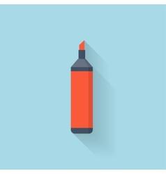 Flat marker pen icon vector image