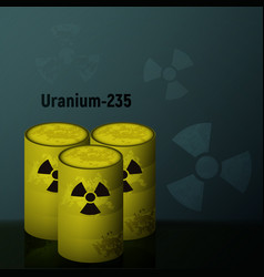 radioactive uranium in the barrels vector image