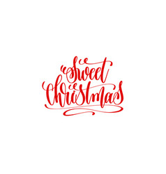 sweet christmas hand lettering inscription holiday vector image vector image