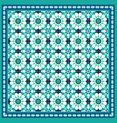 traditional moroccan mosaic background vector image vector image
