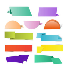 colorful origami paper vector image