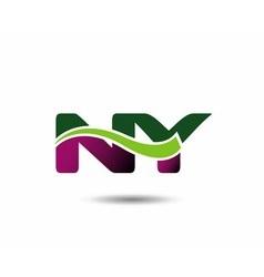 Letter n and y monogram logo vector