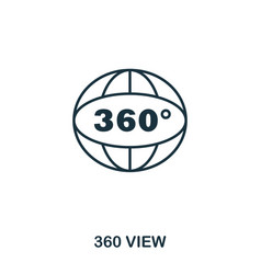 360 view icon mobile app printing web site icon vector