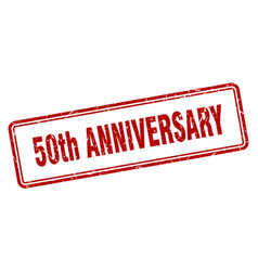 50th anniversary stamp square grunge sign on vector