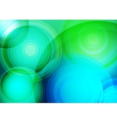 Abstract background with green circles vector image