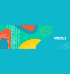 Abstract fun color pattern background cartoon vector