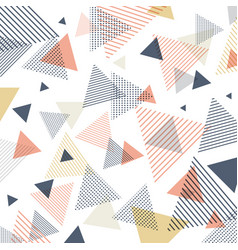 abstract modern blue orange yellow triangles vector image