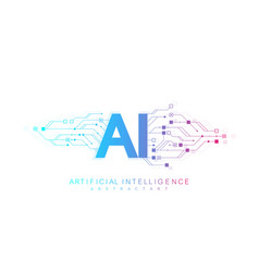 Artificial intelligence logo icon symbol vector
