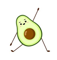 avocado yoga character design vector image