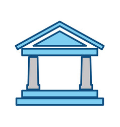 Bank building symbol vector