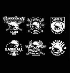 Baseball badge logo emblem template collection vector