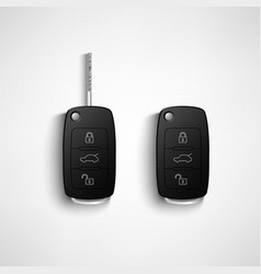 Black car remote key vector