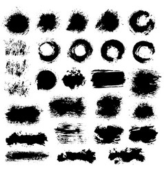 Brush strokes set 4 vector