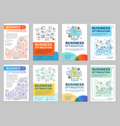 Business optimization brochure template layout vector
