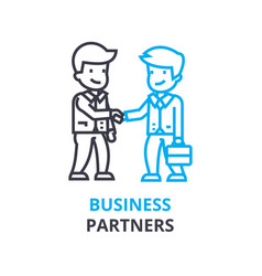 business partners concept outline icon linear vector image