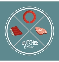 butcher products vector image