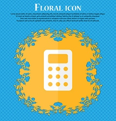 Calculator Bookkeeping Floral flat design on a vector image