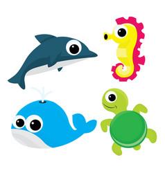 Cartoon sea life vector