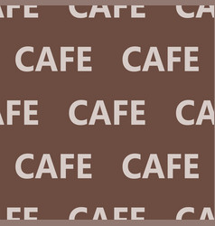 Coffee words background cafe text seamless pattern vector