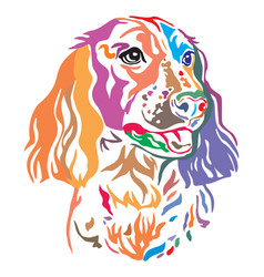 colorful decorative portrait of dog russian vector image