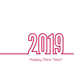 Creative happy new year 2019 vector