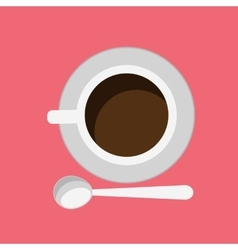 Cup of Coffee Isolated Design Flat vector image