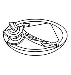 delicious mexican food cartoon vector image