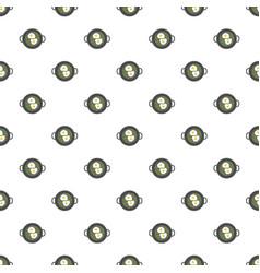 egg on griddle pattern seamless vector image