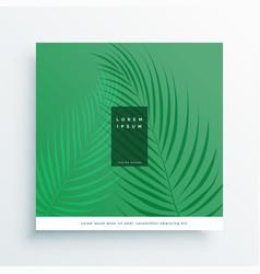 elegant green nature background with leaf vector image