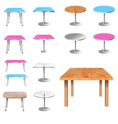 Empty table set vector