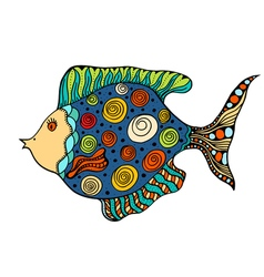 Entangle stylized fish vector