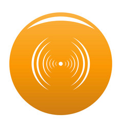 Equalizer abstract icon orange vector