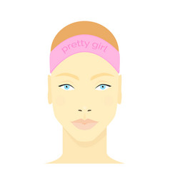 face beautiful girl vector image