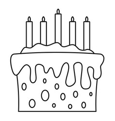 gift cake icon outline style vector image