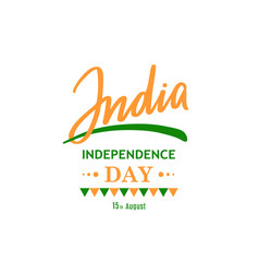 greeting card for celebrating independence vector image