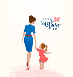Greeting mother day mom vector
