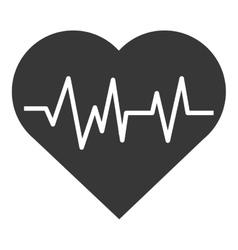 Heart carton pulse vector