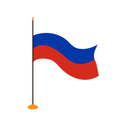 isolated flag of russia vector image