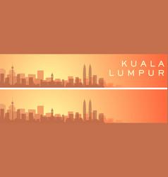 Kuala lumpur beautiful skyline scenery banner vector