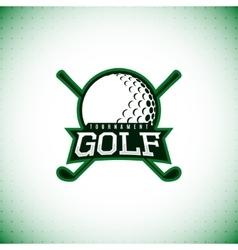 Label golf tournament vector