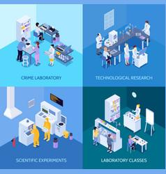 Laboratory isometric design concept vector