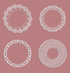 Lace frames vector