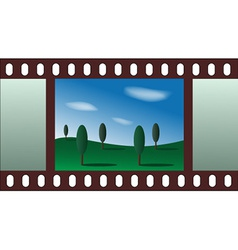 Landscape - film strip vector