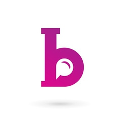 Letter B speech bubble logo icon design template vector