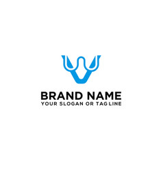 Letter vw logo design vector